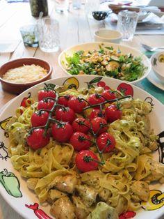 pasta pesto met kip
