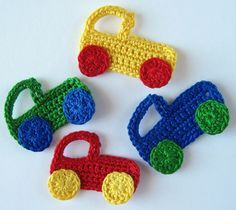 Crochet Pattern Car and Truck Applique   YouCanMakeThis.com