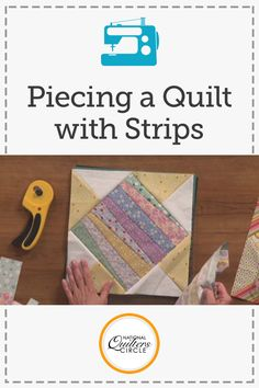 Carolyn Beam presents her creative and easy technique of using leftover strips of fabric. Learn how to incorporate old bindings or scraps of fabric to quilting blocks. Spark new and creative ideas for a fun project of your own. See examples of pieces shes done and use these tips to help get rid of leftover fabric strips!