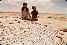 """""""Beads for Sale"""" photo by Terry Eiler. Navajo Indian Reservation, Coconino County, Arizona, 1972."""