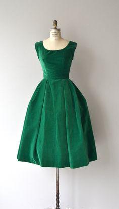 c82227dae398 Esmeraude velvet dress   vintage velvet 50s dress   1950s party dress