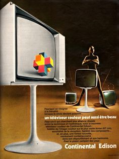 publicite-francaise: Téléviseur Continental Edison, 1972.