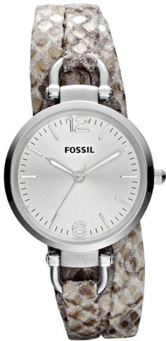 #Fossil #Watch , FOSSIL Georgia Leather Watch Snake Print ES3154