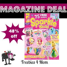 $12.99 for Sparkle World Magazine featuring My Little Pony, Angelina Ballerina, Care Bears, Strawberry Shortcake April 29 1-DAY DEAL http://freebies4mom.com/2013/04/29/sparkle-world/