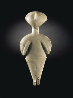 The Guennol Stargazer Marble Idol, Anatolian, 3rd ML BCStanding 9 inches (22.9 cm) high, the Guennol Stargazer is one of the finest and largest preserved Anatolian marble female idols of Kiliya type....