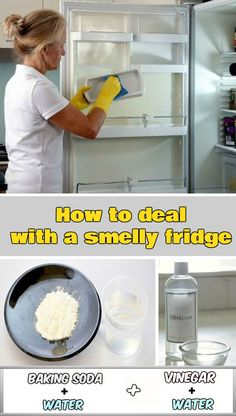 Learn how to deal with a smelly fridge.