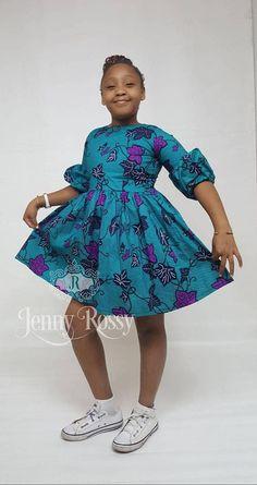 African girls dress Ankara girls dress African dress for girls African Print Clothing, African Print Fashion, Africa Fashion, African Fashion Dresses, Ankara Styles For Kids, African Dresses For Kids, African Lace Styles, Beautiful Ankara Styles, Black Kids Fashion
