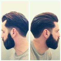 hair slicked back mid long