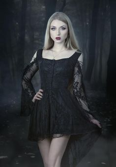 """gothicandamazing: """" model, photo, mua: Absentia dress: Dark in love Welcome to Gothic and Amazing 