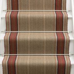Designers and Makers of unique stripe runners, rugs and fabrics in natural fibres. Simply Luxury for Modern Living Striped Carpet Stairs, Striped Carpets, Hallway Carpet, Sisal Carpet, Carpet Shops, Porch Flooring, New Carpet, Nordic Design, Carpet Runner