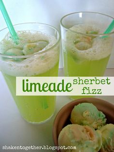 LImeade Sherbet Fizz...these are soo good!!!  They call from carbonated limeade but I've also used lemon lime soda and it works just as well with a less sweet and crisp taste!!