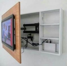 tv wall mount + storage