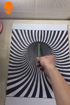 3d Pencil Drawings, 3d Art Drawing, Art Drawings For Kids, Art Drawings Sketches Simple, Art Pencil Set, Mandala Drawing, Illusion Drawings, Illusion Art, Optical Illusions Drawings