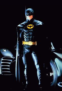 cape yellow utility belt BATMAN 1989 1992 Michael Keaton costume mask gloves