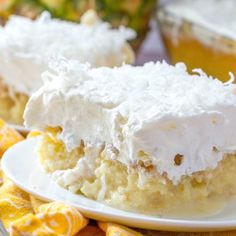 Piña Colada Poke Cake Recipes Pina Colada Poke Cake is made easy by using a butter boxed cake mix poked with cream of coconut. Topped with COOL WHIP . Pina Colada Poke Cake Recipe, Pina Colada Cake, Easy Desserts, Delicious Desserts, Yummy Food, Summer Desserts, Yummy Snacks, Cake Mix Ingredients, Poke Cake Recipes
