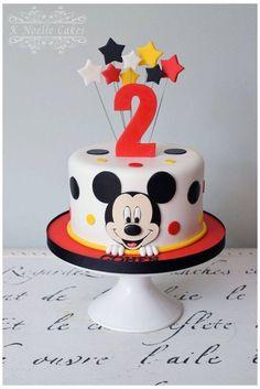 Bolo Do Mickey Mouse, Mickey Mouse Smash Cakes, Mickey Birthday Cakes, Fiesta Mickey Mouse, Mickey Mouse First Birthday, Mickey Mouse Clubhouse Birthday Party, Mickey Cakes, Mickey Mouse Parties, First Birthday Cakes