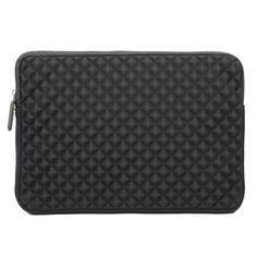 Evecase Diamond Foam Splash & Shock Resistant Portfolio Sleeve Case Bag for HP Pavilion x360 / Pavilion 11 x2 11.6-inch TouchScreen Laptop PC ( Black)
