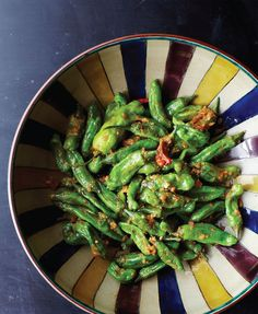 Sauteed Shishito Peppers with Miso & Ginger