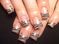 SO HOT! Silver zebra nails