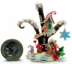 CHRISTMAS FAIRY HOUSE COTTAGE by WEE-OOAK-MINIATURES.deviantart.com on @deviantART