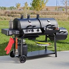 Char Griller Trio - Gas/Charcoal Grill and Smoker with Cover