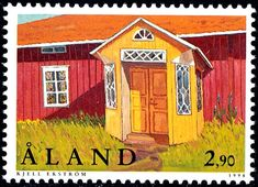 De postzegels van Åland in 1998 Going Postal, French Language, Stamp Collecting, Postage Stamps, Finland, Outdoor Structures, Modern, House, Seals