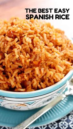 Mexican Entrees, Mexican Rice Recipes, Rice Recipes For Dinner, Side Dish Recipes, Spanish Rice Recipes, Mexican Dinners, Dishes Recipes, Crockpot Spanish Rice, Chicken And Spanish Rice