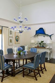 Decorating with fish replica