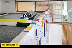 LEGO as building material...slideshow of images from a NY apartment
