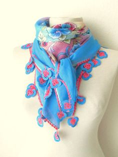 Christmas gift AQUA Turquoise  Multicolor SQUARE  by asuhan, $31.90