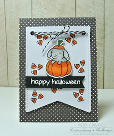 Hello everybody! Heidi here, I hope you had a fantastic weekend full of crafting fun! Today I am sharing with you some quick Halloween i...