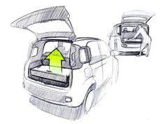 Fiat Panda Design Sketch