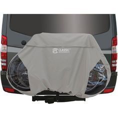 Keep your bicycle well protected when it's mounted to a bike rack with the Classic Accessories RV Bike Cover . This cover is made of a durable, weather-resistant. Bike Storage Cover, Bike Cover, Kayak Storage, Hanging Bike Rack, Bicycle Rack, Bicycle Stand, Camping World, Rv Camping, Camping Ideas