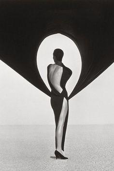 Versace Dress, Back View, El Mirage, Herbt Ritts, 1990.