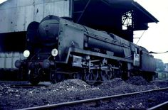 16. WCBB 4-6-2 Pacific 34025 WHIMPLE (pictured in Basingstoke depot on July 1967 without its nameplate). 34025 was built at Brighton or Eastleigh Works in 1945-1951? and rebuilt after 1957. It was based at 72A Exmouth Junction in 1948, then ? and withdrawn from service in ? The last of steam trains in the southwest of England.