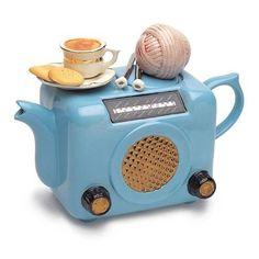 théière ancienne radio