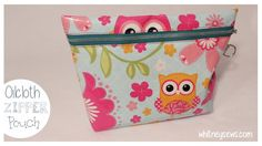 Oilcloth Boxed Bottom Zipper Pouch with Strap How to - Whitney Sews