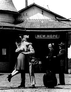Welcome Home Kisses, 1945; homecomings are overwhelmingly wonderful and the first kiss is awesome :)