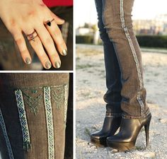Embroidered Jeans   41 Amazing Free People-Inspired DIYs