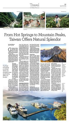 From Hot Springs to Mountain Peaks, Taiwan Offers Natural Splendor|Epoch Times #newspaper #editorialdesign