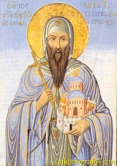 Commemorated on February 7 Saint Luke of Hellas was a native of the Greek village of Kastorion. The son of poor farmers, the saint from c. Becoming A Monk, Day Of Pentecost, Jesus Is Coming, Letting Go Of Him, Catholic Saints, Sacred Art, Ikon, Christianity, Creatures