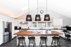 Kitchen Interior Design: The Ultimate Guide to Your Kitchen Remodel  #TransitionalInteriorDesignStyle Modern Kitchen Cabinets, Modern Kitchen Design, Kitchen Flooring, Interior Design Kitchen, Tile Flooring, Dark Flooring, Concrete Kitchen, Kitchen Tile, Kitchen Pantry