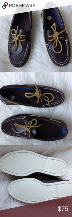 Sherry Top-Sider NWOT Size 6.5 Men's 8.5 Women's Brand New and ready to ship! These are men's but I think are unisex. Perfect. Bundle with another item and Save! These are the 'Original' Boat Shoe. Dark Brown. Perfect. Sperry Top-Sider Shoes Flats & Loafers