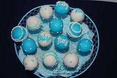 Boy Baby Shower Cake Balls
