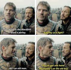 Game of thrones season 7 funny humour meme, Jaime Lannister, Bronn. Bronn Game Of Thrones, Got Game Of Thrones, Game Of Thrones Quotes, Game Of Thrones Funny, Game Of Thrones Instagram, Jaime And Brienne, Game Of Thones, Got Memes, My Sun And Stars