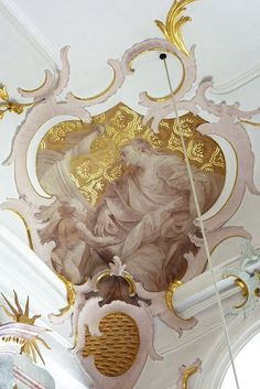 German rococo Classic Ceiling, Rococo Style, Altar, Baroque, Ornaments, History, Architecture, Ceilings, Drawings