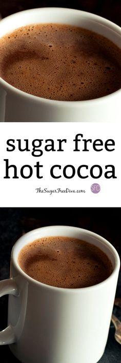 Sugar Free Hot Cocoa- The #recipe for #homemeade #sugarfree Hot #cocoa !