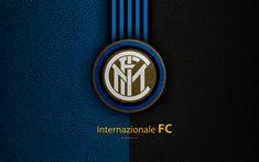 Download wallpapers Internazionale FC, 4k, Italian football club, Serie A, emblem, logo, leather texture, Milan, Italy, Italian Football Championships, Inter Milan