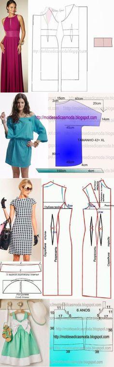 Los patrones simples de los vestidos veraniegos 6