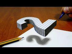 Смотреть онлайн видео Trick Art On Line Paper, Floating Number 2 3d Art Drawing, Art Drawings For Kids, Pencil Art Drawings, Art Drawings Sketches, Easy Drawings, 3d Pencil Art, 3d Pencil Sketches, Illusion Drawings, 3d Illusion Art